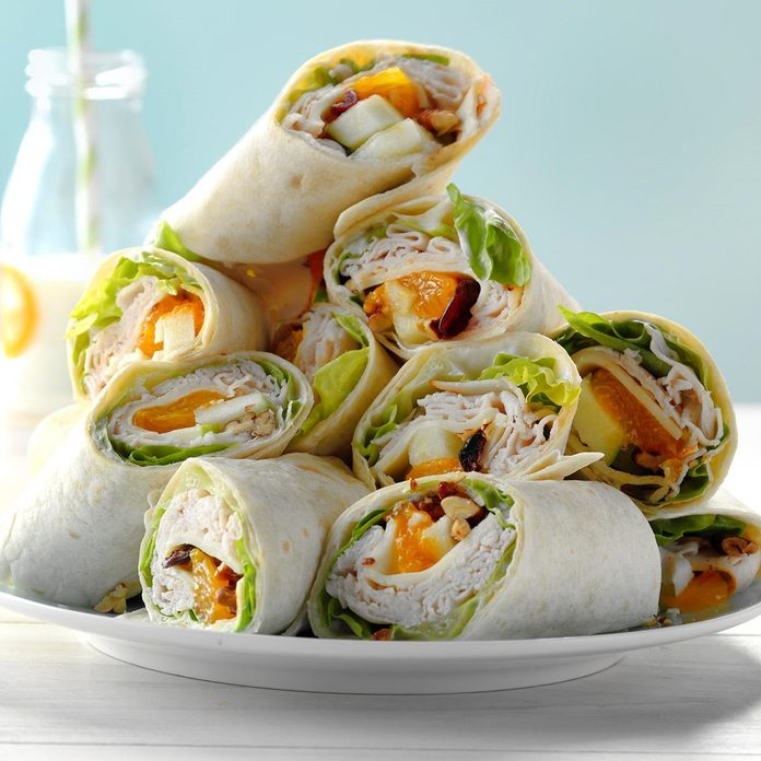 Cranberry Turkey Wraps