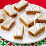 Cream Cheese Frosted Pumpkin Bars