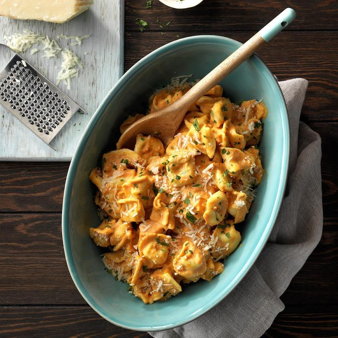 Creamy Pumpkin Tortellini