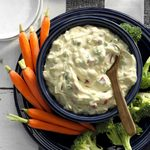 Creamy Red Pepper Veggie Dip
