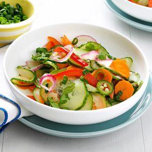 Crisp & Spicy Cucumber Salad