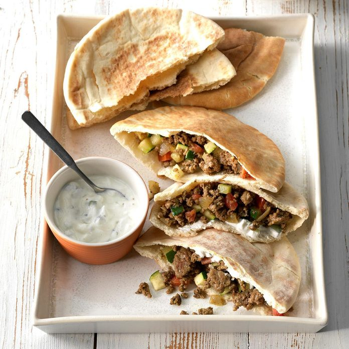 Curried Beef Pita Pockets