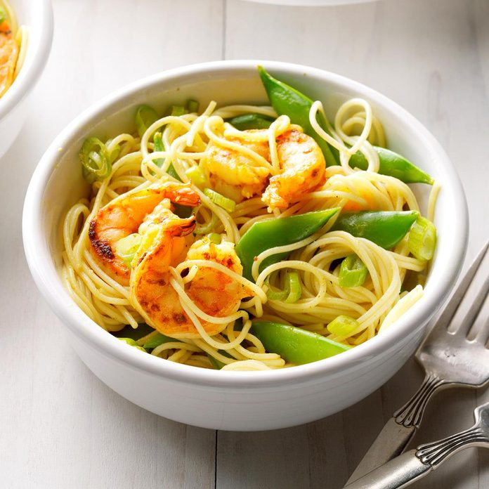 Day 30: Curried Shrimp Pasta