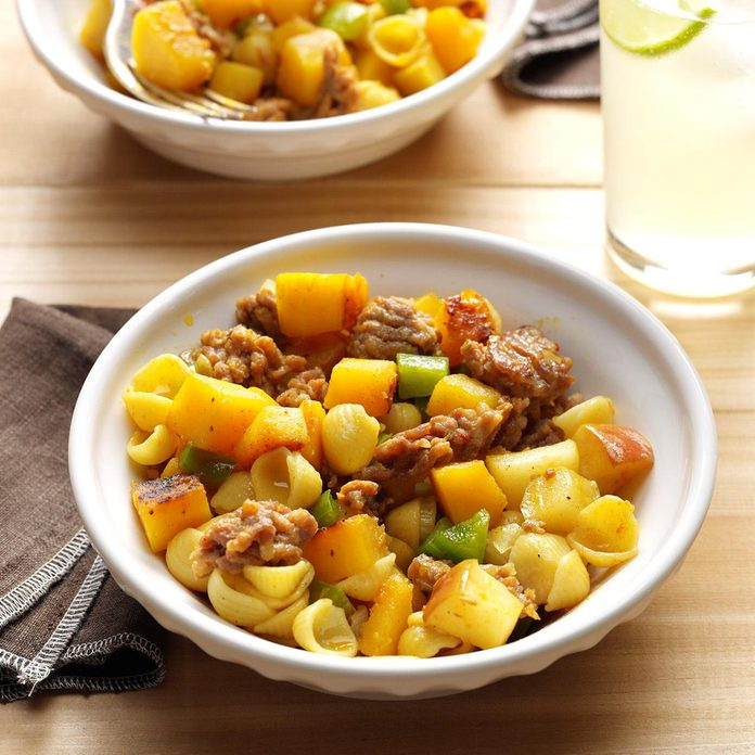 Curried Squash & Sausage