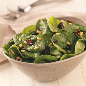 Curry-Cranberry Spinach Salad