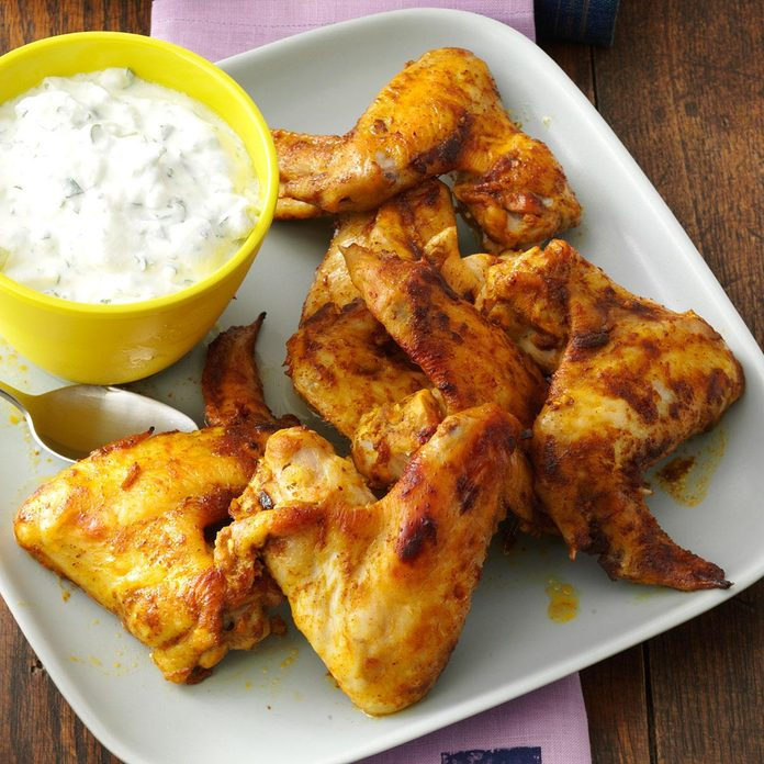 Curry & Mango Chutney Chicken Wings