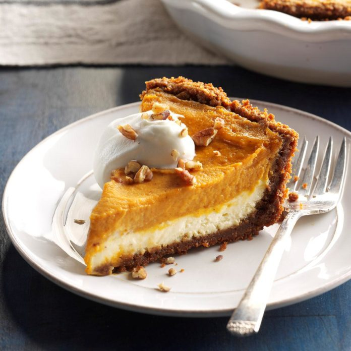 Double-Layer Pumpkin Cheesecake