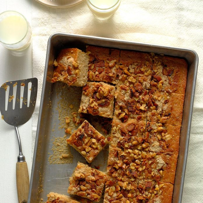 Maple Bacon Walnut Coffee Cake