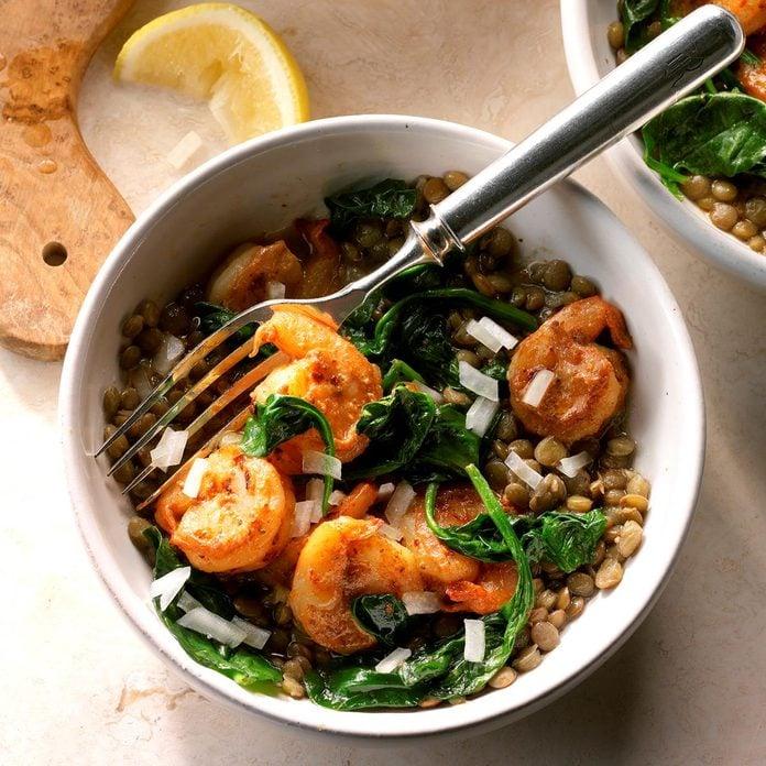 Day 29: East Coast Shrimp and Lentil Bowls