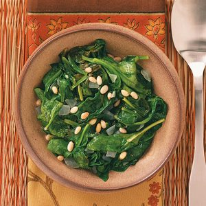 Easy Sauteed Spinach for Two