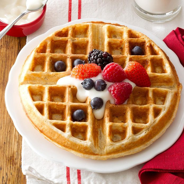 Day 5 Breakfast: Family-Favorite Oatmeal Waffles