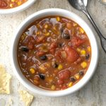 Fast Refried Bean Soup