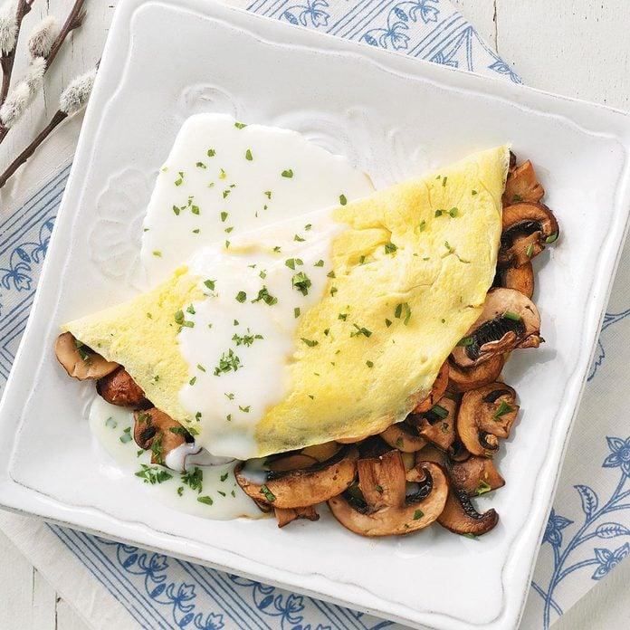 Day 25: Fines Herbes & Mushroom Omelets