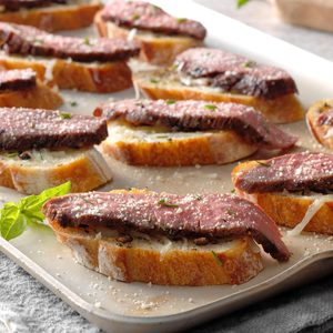 Flank Steak Crostini