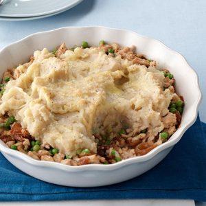 French Onion Turkey Shepherd's Pie