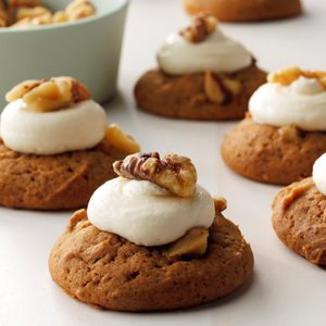 Frosted Gingerbread Nut Cookies