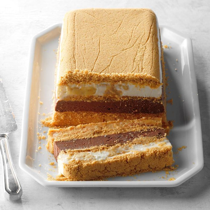 Frozen Peanut Butter and Chocolate Terrine
