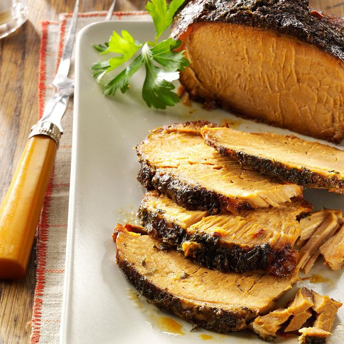 Garlic-Apple Pork Roast