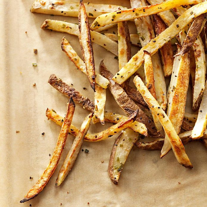 Garlic-Chive Baked Fries