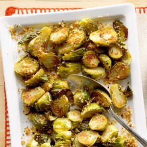 Garlic-Rosemary Brussels Sprouts