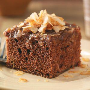 German Chocolate Upside Down Cake