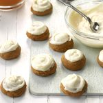 Gingerbread Cookies with Lemon Frosting