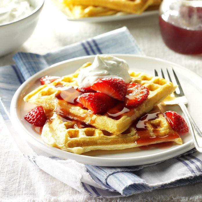 Golden Buttermilk Waffles