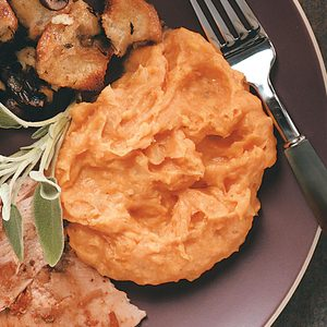 Golden Sweet Smashed Potatoes