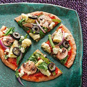 Greek Pita Veggie Pizzas