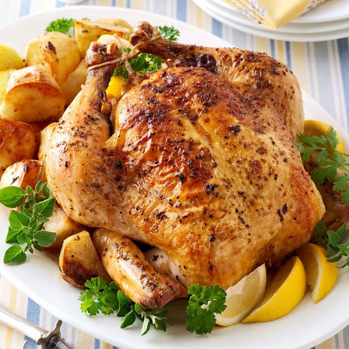 Greek Roasted Chicken and Potatoes