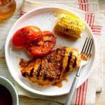 Grilled Basil Chicken and Tomatoes