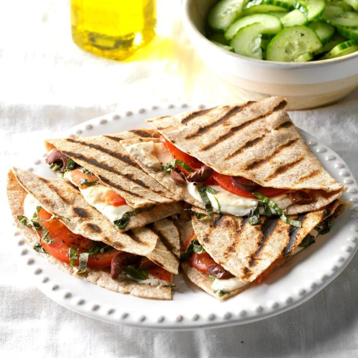 Grilled Caprese Quesadillas
