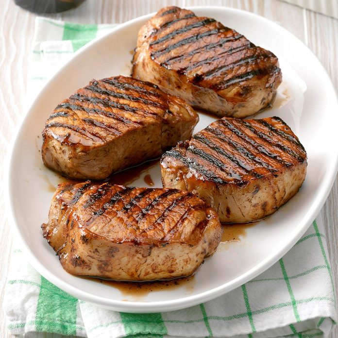 Grilled Maple Pork Chops