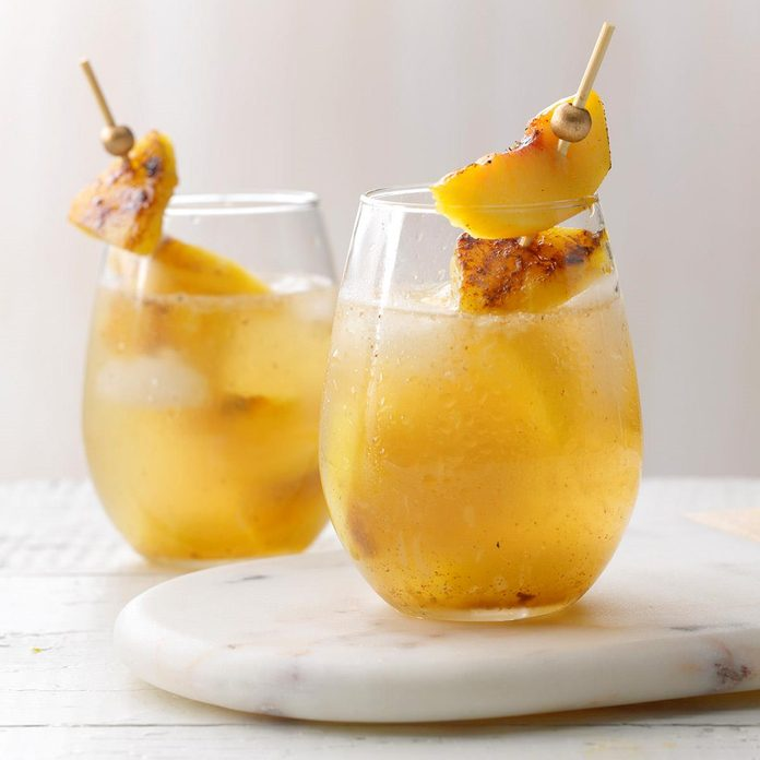 Grilled Peach & Pineapple Sangria