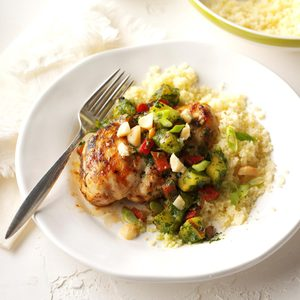 Grilled Pineapple Chimichurri Chicken