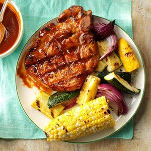 Grilled Pork Chops with Smokin' Sauce