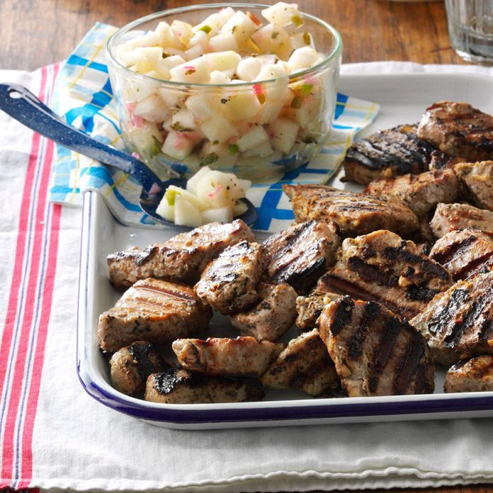 June 25: Grilled Pork with Pear Salsa