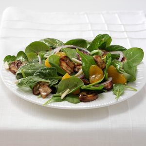 Grilled Portobello Spinach Salad