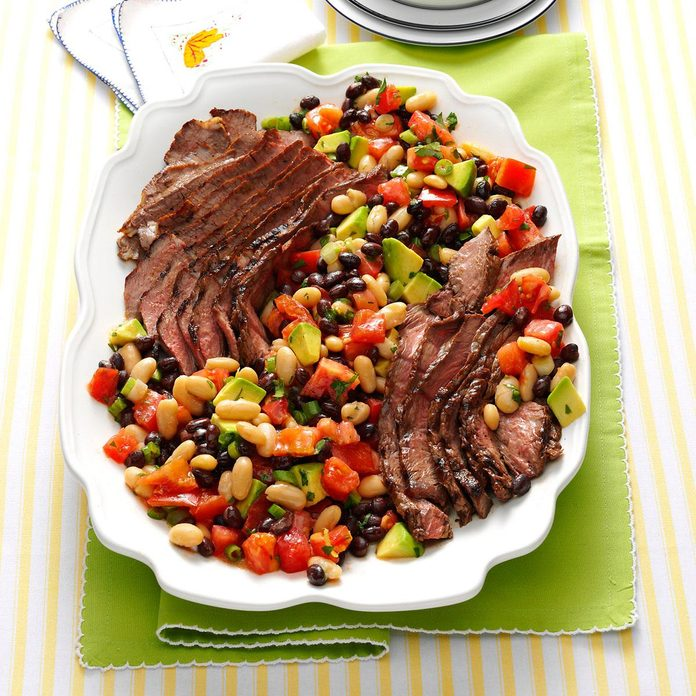 Grilled Steak with Tomatoes & Avocado