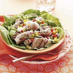 Grilled Tuna Bibb Salads