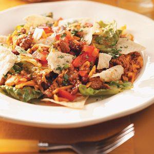 Ground Pork Taco Salad