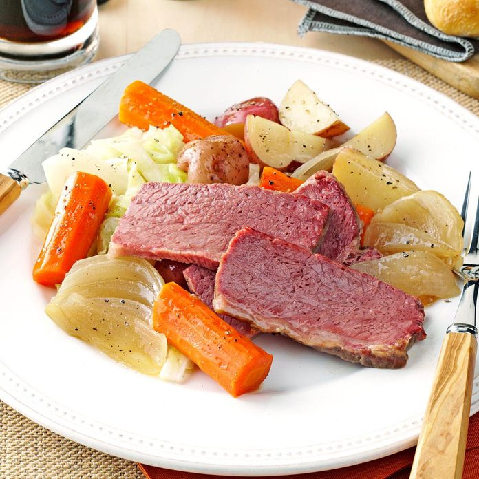 Guinness Corned Beef and Cabbage