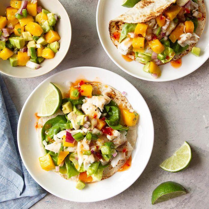 Day 1: Halibut Soft Tacos