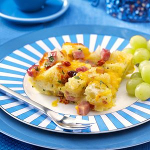 Ham & Cheese Strata with Sun-Dried Tomatoes
