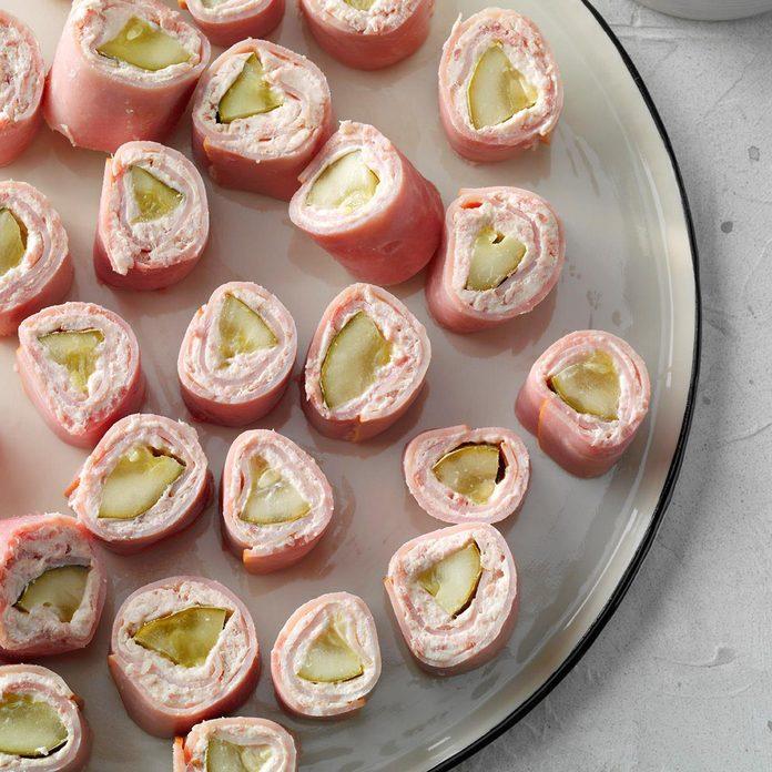 Ham Pickle Pinwheels