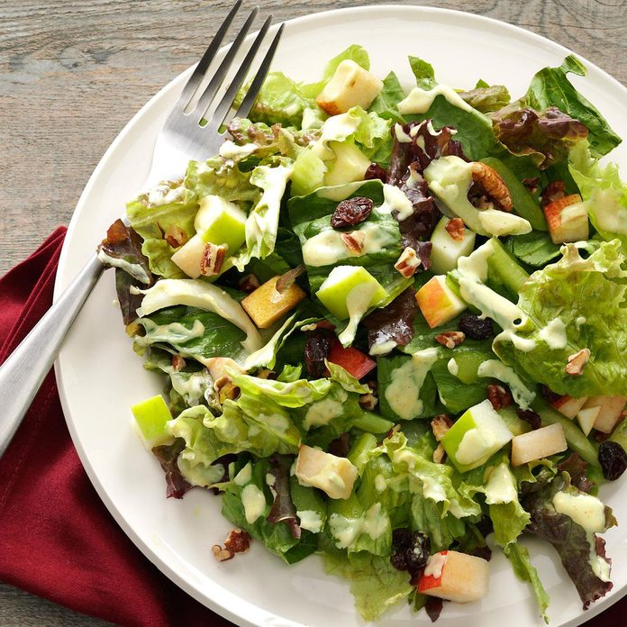 Harvest Salad with Lime-Curry Dressing