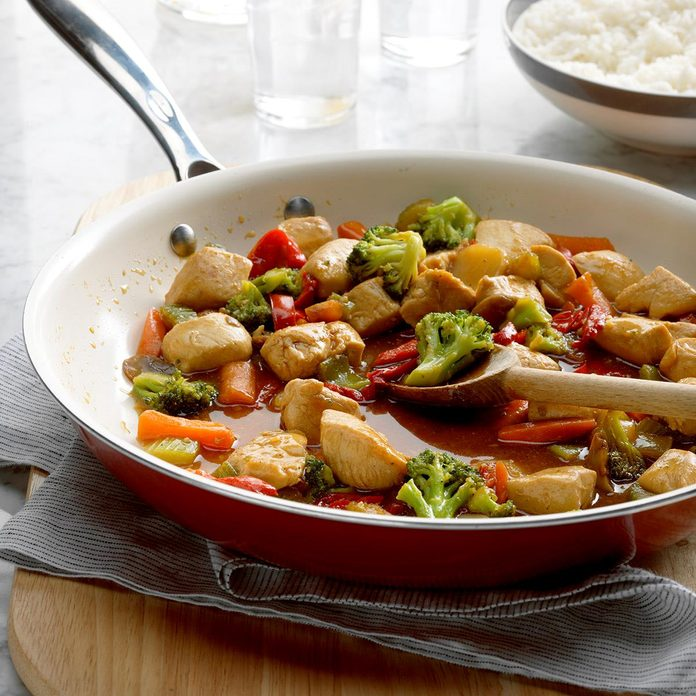 September: Honey Chicken Stir-Fry