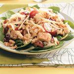 Honey-Mustard Chicken Spinach Salad
