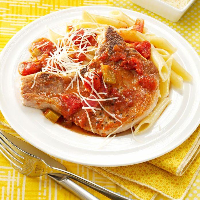 Italian Chops With Pasta