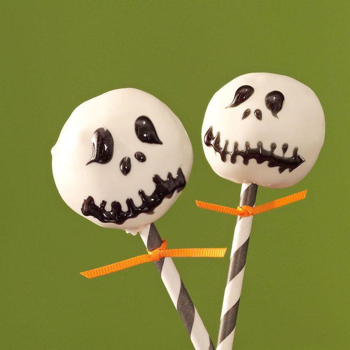 Spooky Snack: Jack Skellington Pops